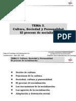 Cultura, Sociedad y Personalidad.