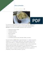 Arroz con alcachofas y pimentón