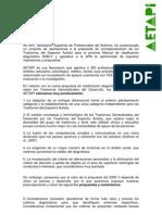Propuestas de la AETAPI enviadas a la APA en Abril de 2010 sobre el Dsm_V