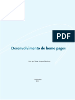 MATERIAL IMPRESSO Desenvolvimento de Home Pages