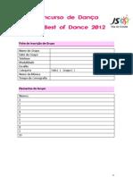 Concurso de Dança - Best of Dance | JS-Vila do Conde ficha de inscrição