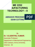ME 2252 MANUFACTURING TECHNOLOGY – II-Unit-IV.(b)