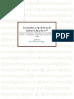 Informe Quimica Analítica IV Prácticas 1-2