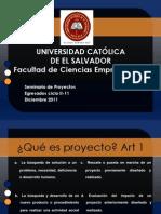 Seminario de Formulacion y Evaluacion de Proyectos