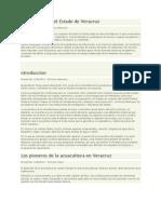 Acuacultura en El Estado de Veracruz
