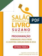 Programação Salão Internacional do livro de Suzano