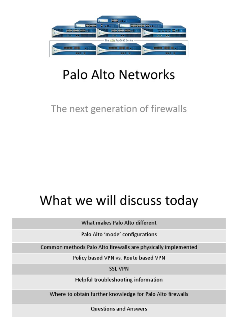 Palo Alto Networks | Virtual Private Network | Transport