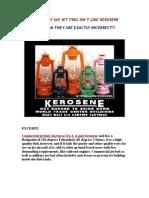 Jet Fuel is Kerosene