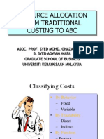 Traditional to ABC Costing