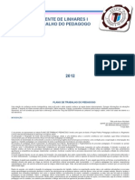 Plano Pedagogo 2012