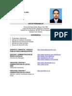 Hoja de Vida Rafael Forero 2012