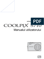 Manual de Utilizare Nikon S710