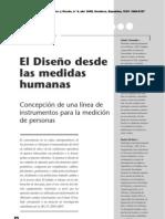 El Diseño desde las medidas humanas