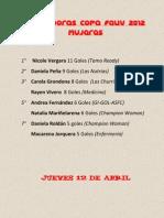 Goleadoras COPA FEUV 2012
