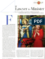 From Lawyer to Minister - O Magazine December 2010
