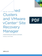 Stretched Clusters and VMware vCenter Site Recovery Manage USLTR Regalix