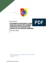 Kontribusi Pertanian Tanaman Pangan Kabupaten Jember Terhadap Ketahanan Dan Kedaulatan Pangan Nasional