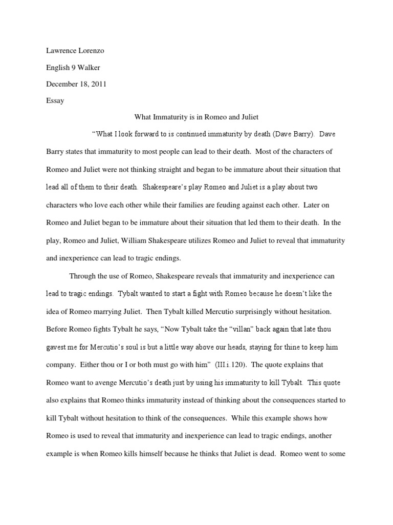 Beau Romeo And Juliet Essay | Juliet | Romeo And Juliet