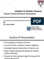 Dispute Resolution in Islamic Finance
