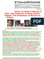 Virginia Saldanha-ecclesia of Women in Asia and Catherine of Siena Virtual College-feminist Theology and the Ordination of Women Priests
