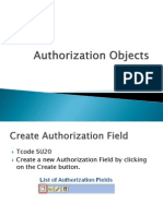 Authorization Objects