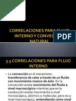CORRELACIONES PARA FLUJO INTERNO Y CONVECCIÓN NATURAL