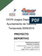 Bases de Competición de los Juegos Deportivos Municipales 09-10