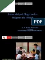Labor del psicólogo en los Hogares de INABIF