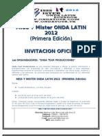 Bases y Reglamentos Miss y Mister Onda Latin 2012