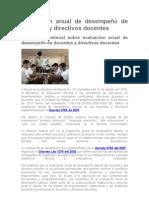 Evaluación anual de desempeño de docentes y directivos docentes