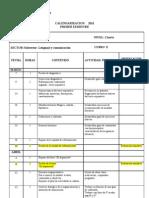 calendarización 3° medio H 2011