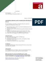 Stellenauschreibung Redaktionsassistenz architekturvideo.de (Studenten-Job)
