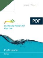 Alex Lee, Professional Styles Leadership Report V2