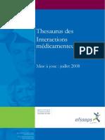 Thesaurus Juillet 2008