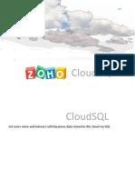 Zoho Cloud SQL