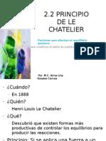 2.2 Principio de Le Chatelier