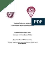 Guardado Ojeda Juan Carlos_Escuelas de pensamiento administrativo y su relación con el ambiente global