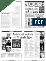 Versión impresa del periódico El mexiquense Edición 13 de abril 2012