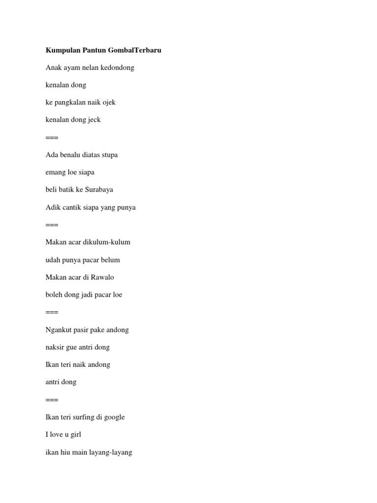 Kumpulan Pantun Gombalterbaru Dan Orbs