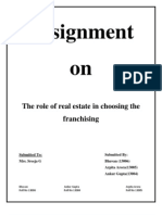 The Role of Real Estate in Choosing the Franchisees