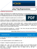 Simplifying Trig Expressions