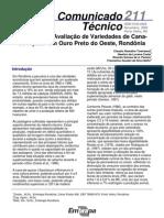 Avaliação de Cultivares de Cana-de-Açúcar em Ouro Preto d´Oeste, Rondônia