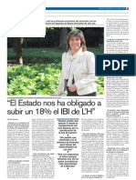 Entrevista a Núria Marín al Diari LH 10/04/12