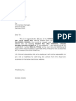 Delivery Risk Letter - ROMIEL MOSES