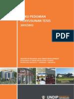 Buku Pedoman Tesis 2011