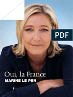 Profession de Foi de Marine Le Pen - Election Présidentielle 2012 - Premier Tour