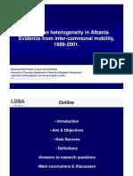 Population Heterogeneity in Albania