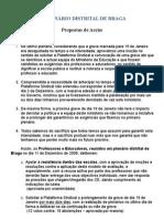Proposta de Acção Plenário Janeiro