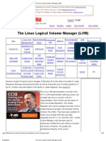 The Linux Logical Volume Manager (LVM)