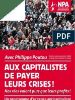 Programme Philippe Poutou - Election Présidentielle 2012